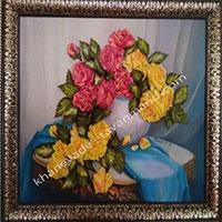 روباندوزی خرگوش عروسکی و دسته گل